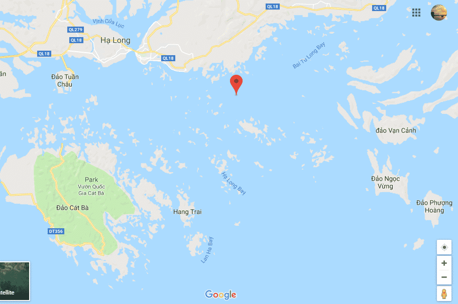 Vị trí vịnh Hạ Long, vịnh Lan Hạ & vịnh Bái Tử Long