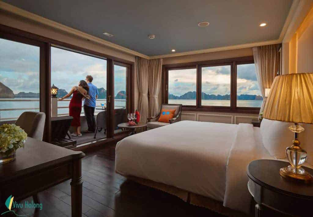 Phòng nghỉ sang trọng trên Du thuyền Athena