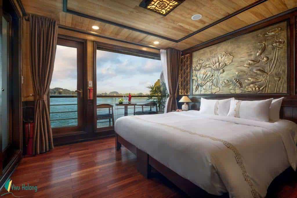 Phòng nghỉ sang trọng du thuyền Perla Dawn Sails