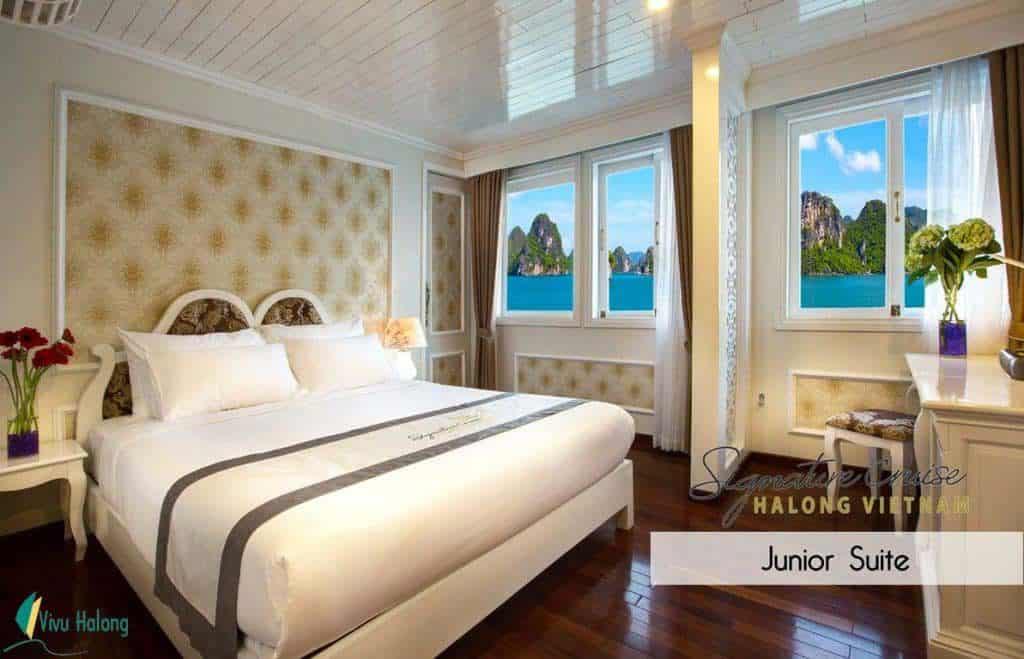 Phòng Junior Suite trên du thuyền Singnature