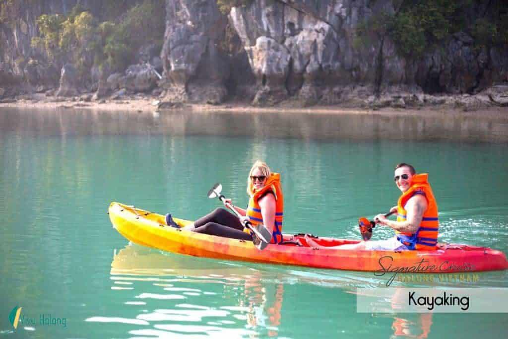 Chèo kayak thăm vịnh Bái Tử Long