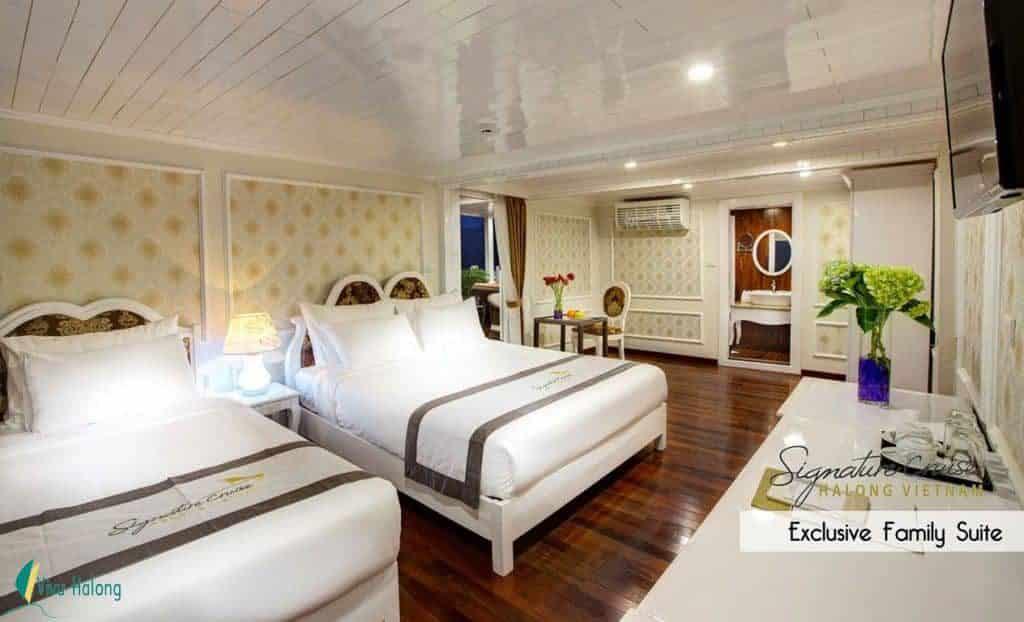 Phòng Family trên du thuyền Signature Hạ Long