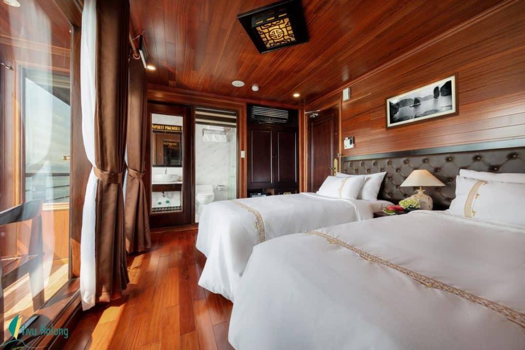 Phòng twin Du thuyền V'spirit Premier