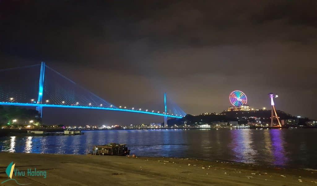 Cầu Bãi Cháy về đêm