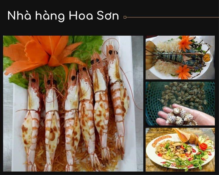 Các món ăn hải sản phong phú và đặc sắc