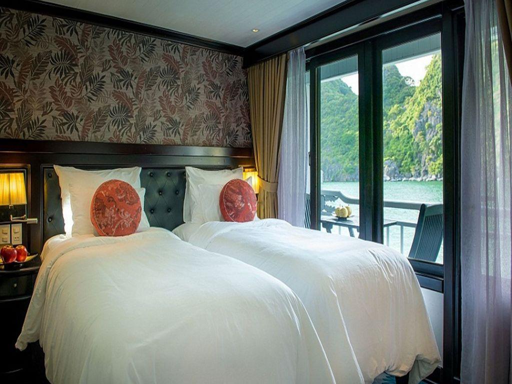 Phòng twin trên du thuyền Paradise Luxury