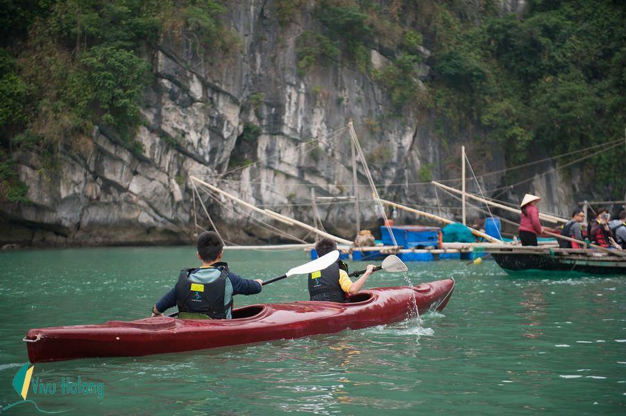 Chèo kayak khám phá vịnh Bái Tử Long