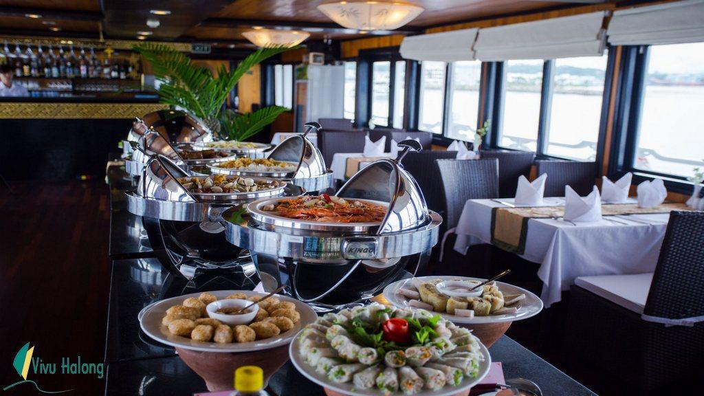 Bữa ăn Buffet trên du thuyền