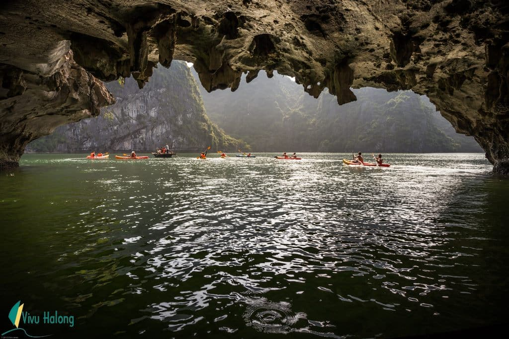 Kayaking in Bright and Dark cave