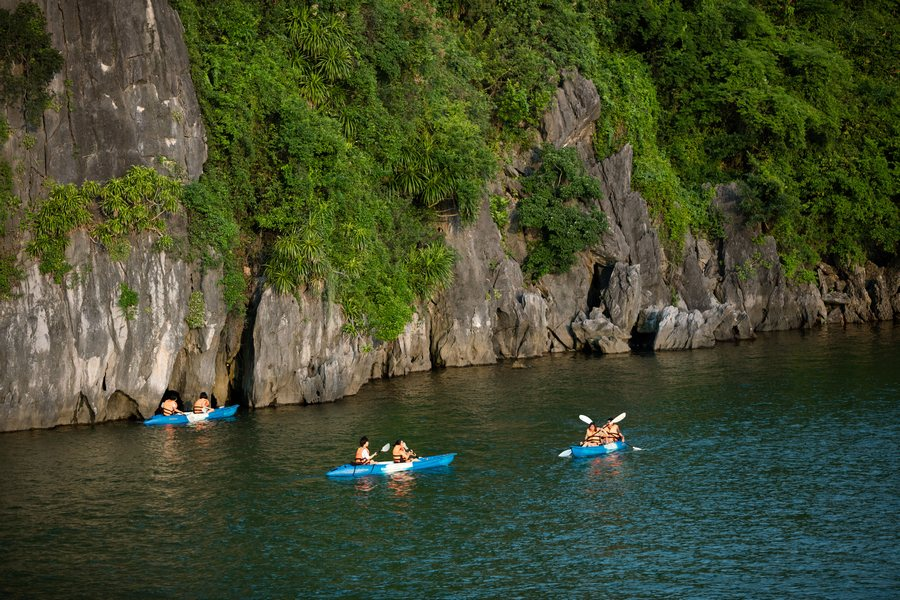 Kayaking on Lan Ha Bay