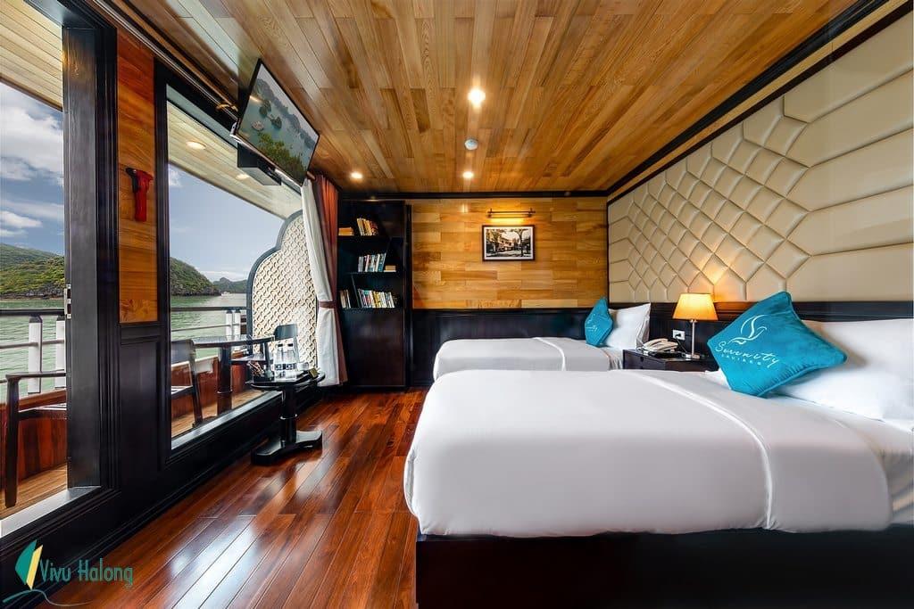 Junior Suite cabin on Serenity Cruises