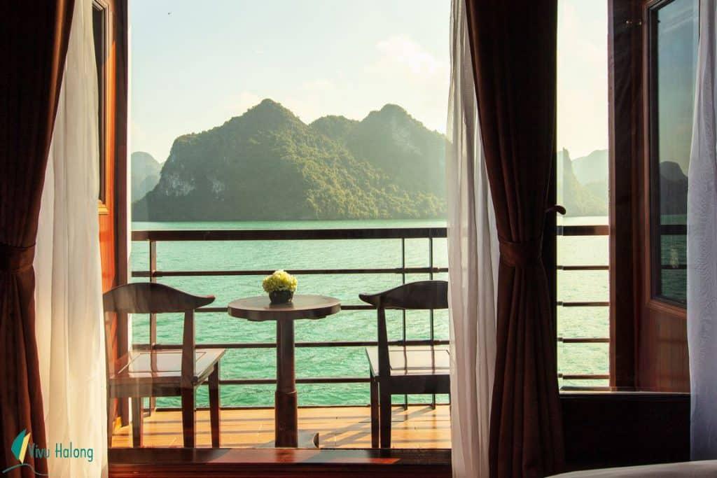 Private balcony on V'Spirit Premier Cruise