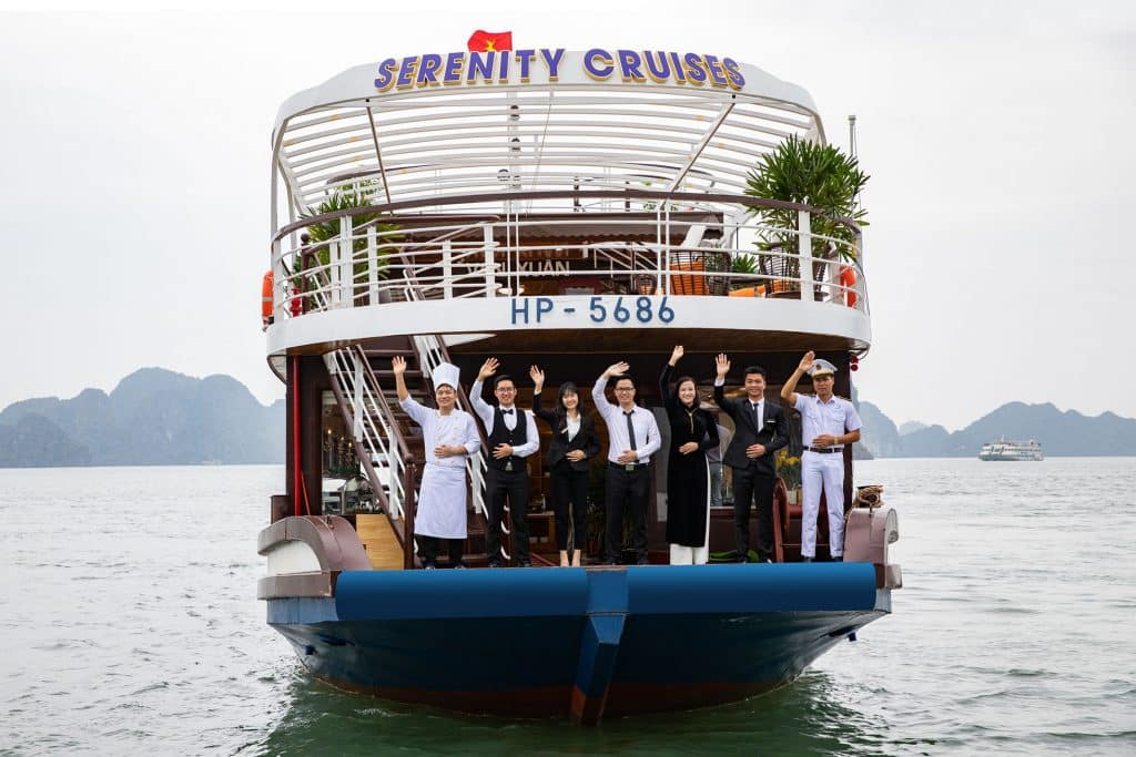 The crew team on Serenity day cruise