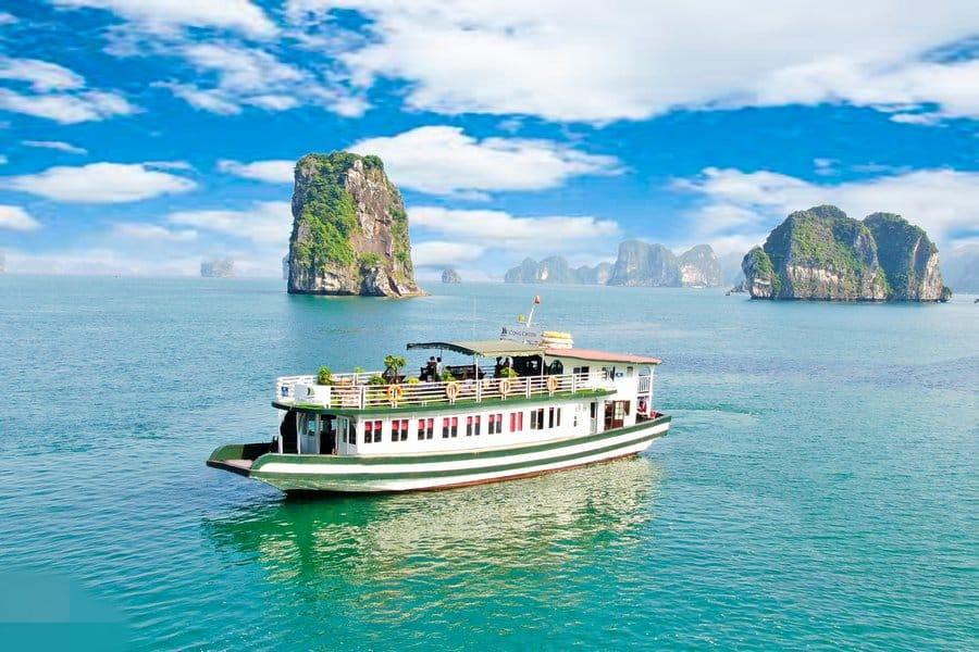 Cong cruise thăm vịnh 1 ngày, chương trình 7 tiếng