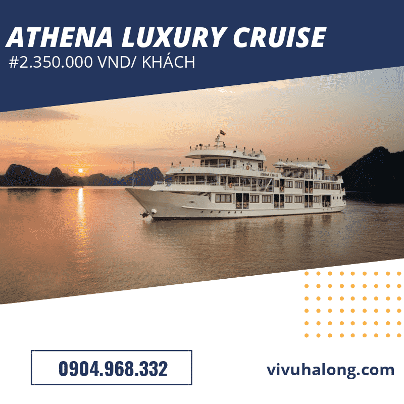 Voucher du thuyền Athena Luxury