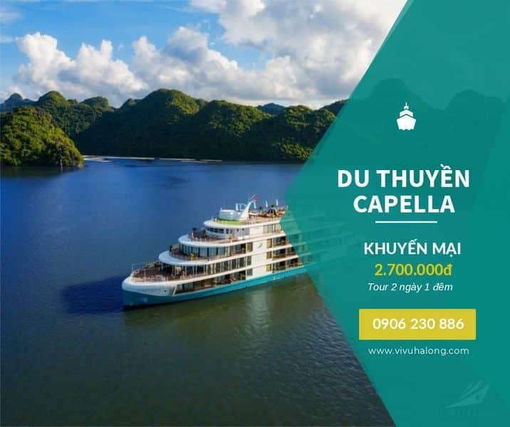 Voucher Du thuyền Capella