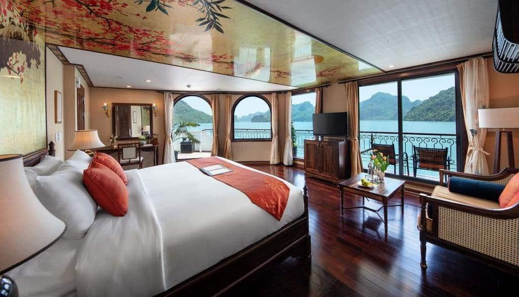 Phòng nghỉ trên Du thuyền Indochine