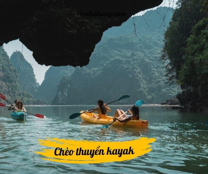 Trải nghiệm chèo thuyền kayak trên Vịnh Lan Hạ