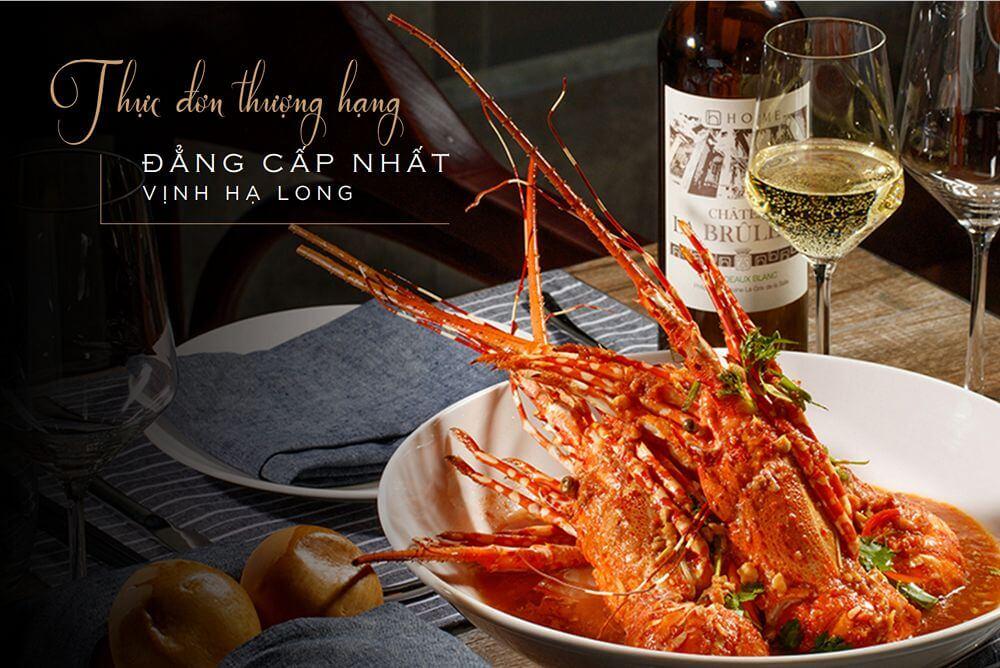Thực đơn cao cấp dành cho bữa ăn trên Du thuyền