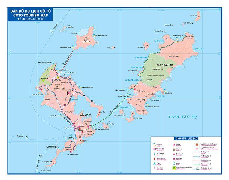 Bản đồ du lịch Đảo Cô Tô