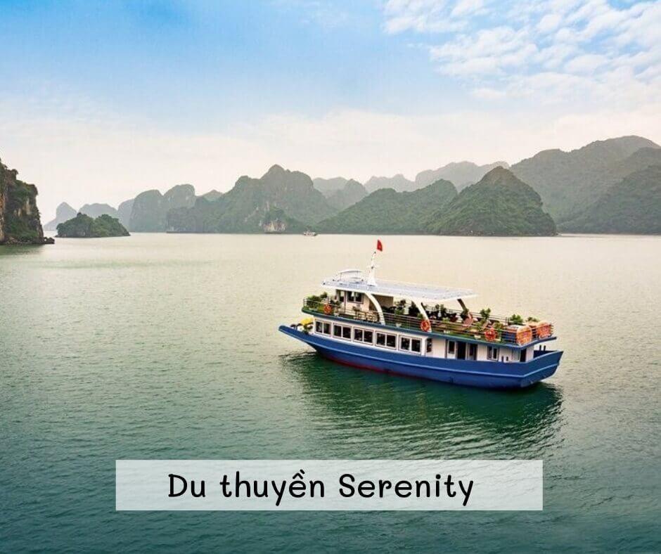 Tàu Serenity Tour 1 ngày Vịnh Lan Hạ